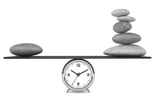 rocks over alarm clock
