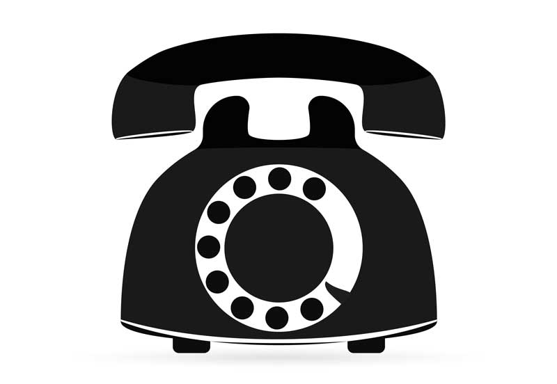 old telephone icon for telehealth